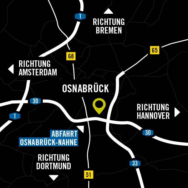 Anfahrt zum Musum am Schölerber in Osnabrück