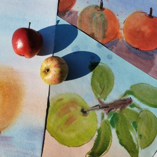 Zeichnen in der Natur: Der Herbstgarten